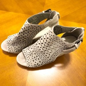 Marc Fisher Perforated Suede Wedges, Hasina